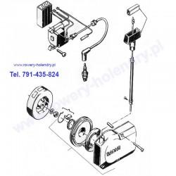 Schemat szarpak, cewka, moduł - rower z silnikiem Sachs 301A